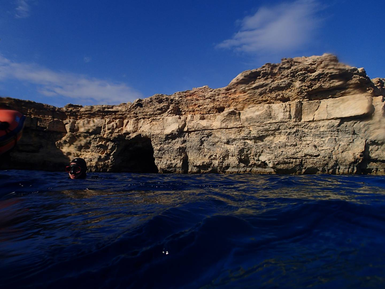 Entry of the Santa Maria Caves Comino